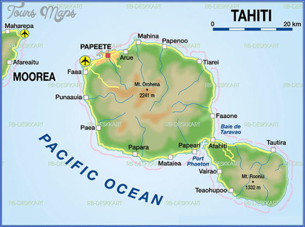 tahiti map 22 Tahiti Map