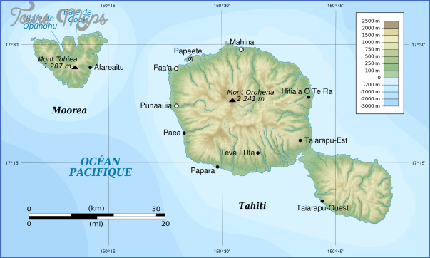 tahiti map 25 Tahiti Map