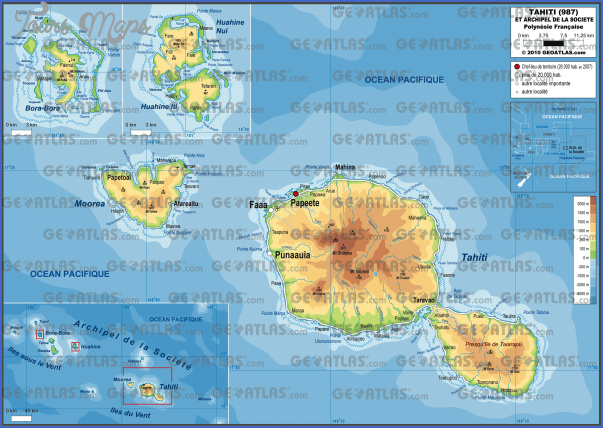 tahiti map 26 Tahiti Map
