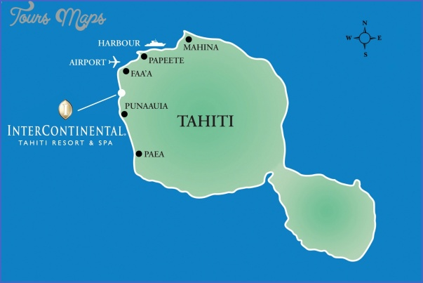 tahiti map 27 Tahiti Map