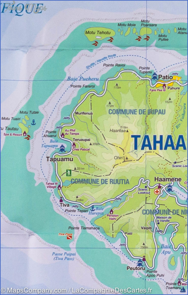 tahiti map 3 Tahiti Map