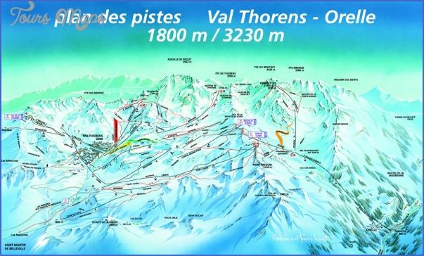 Val Thorens France Map ToursMapscom
