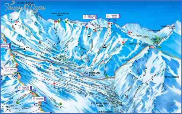 val thorens france map 10 Val Thorens, France Map