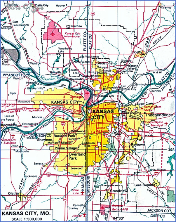 kansas city area map 11 Kansas City Area Map