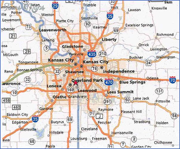 Kansas City Road Map - ToursMaps.com ®