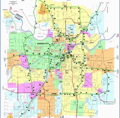 kansas city map usa Archives Map Travel Holiday Vacations