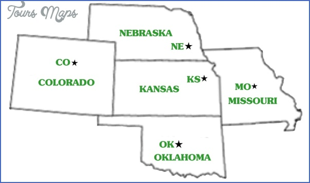 kansas oklahoma map 13 Kansas Oklahoma Map