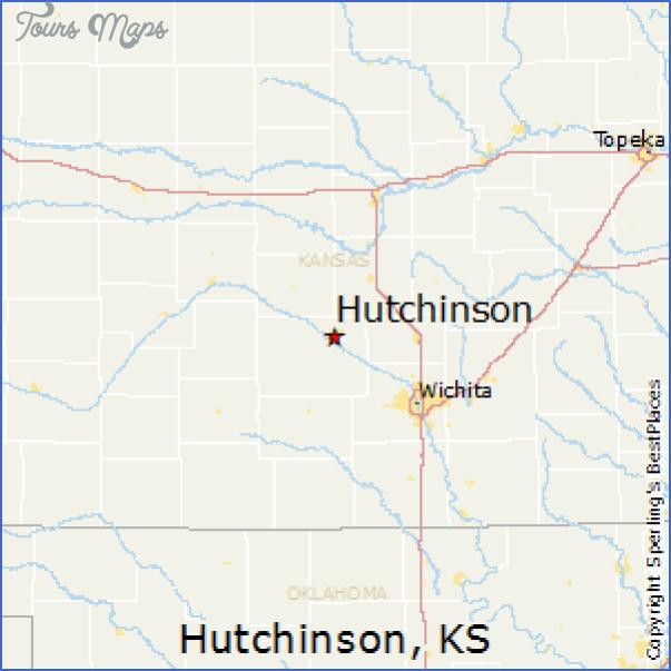Map Of Hutchinson Kansas ToursMapscom