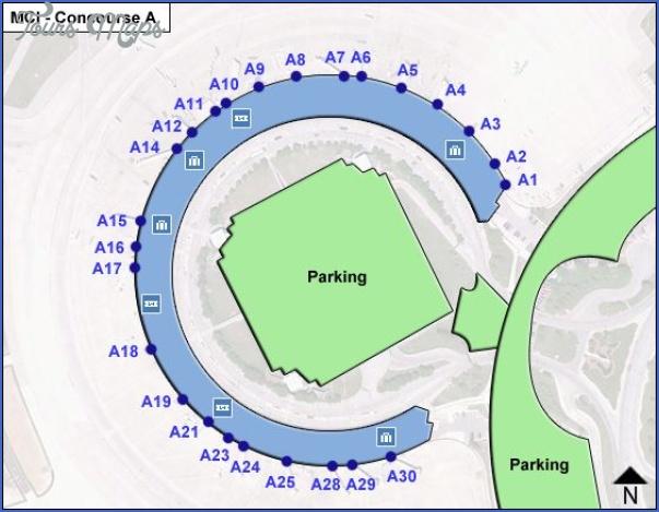 map of kansas city airport 1 Map Of Kansas City Airport