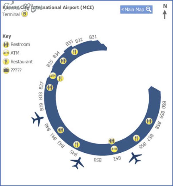 map of kansas city airport 4 Map Of Kansas City Airport