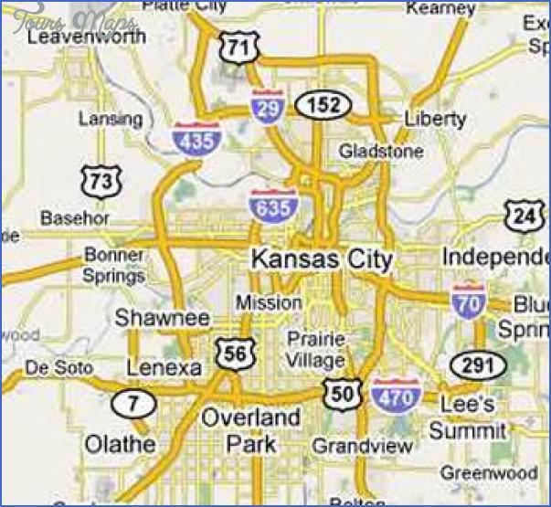 Map Of Kansas City Area - ToursMaps.com ®