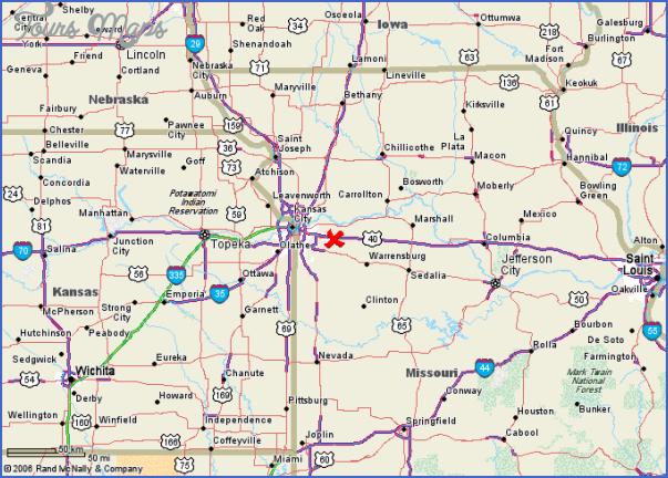 Alton Kansas Map.Map Of Kansas City Area Toursmaps Com