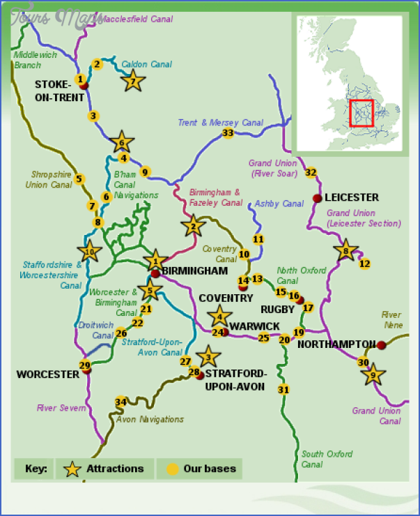 uk canal map 0 Uk Canal Map
