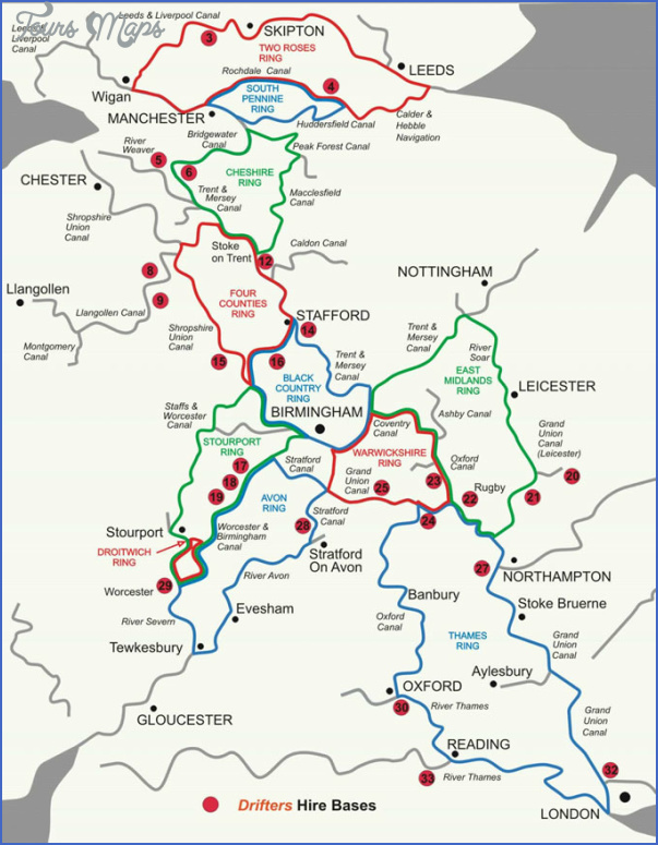 uk canal map 14 Uk Canal Map
