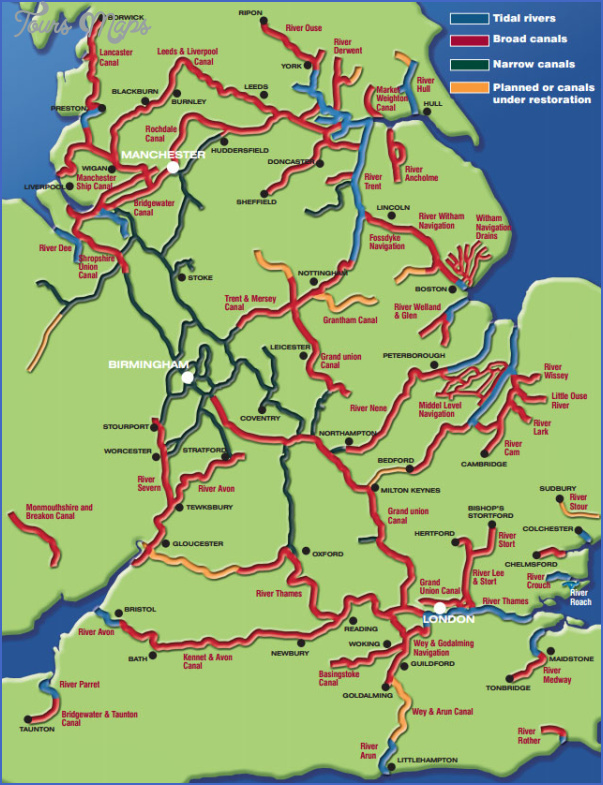 uk canal map 4 Uk Canal Map
