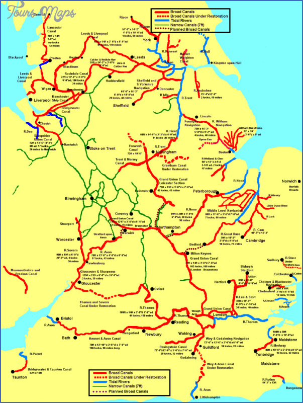 uk canal map 8 Uk Canal Map