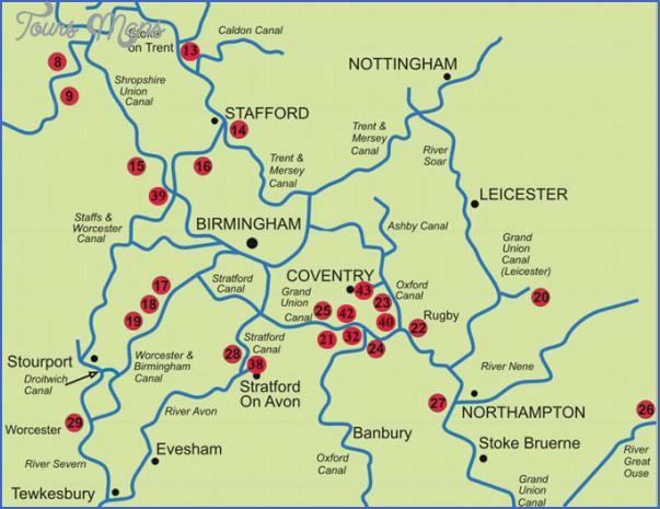 uk canal maps 3 Uk Canal Maps