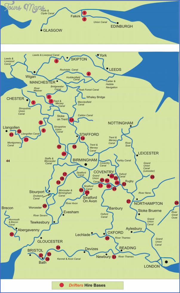 uk canal maps 8 Uk Canal Maps