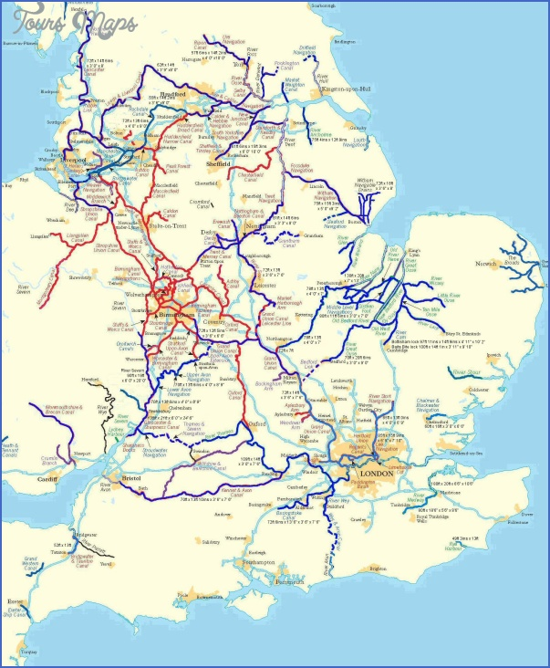 Canal Network Map Uk Canal Network Map Pdf   ToursMaps.® Canal Network Map