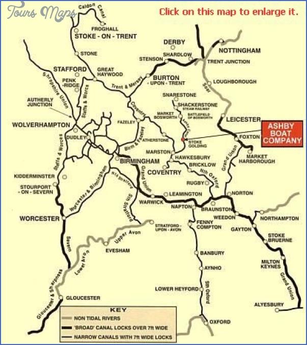 uk canal network map 3 Uk Canal Network Map