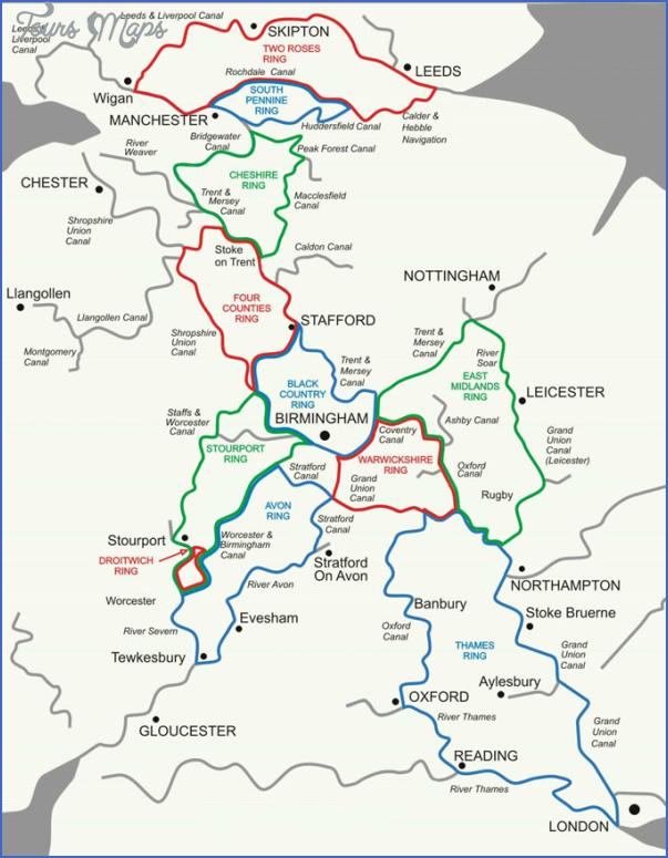 Uk Canal Network Map Toursmaps Com