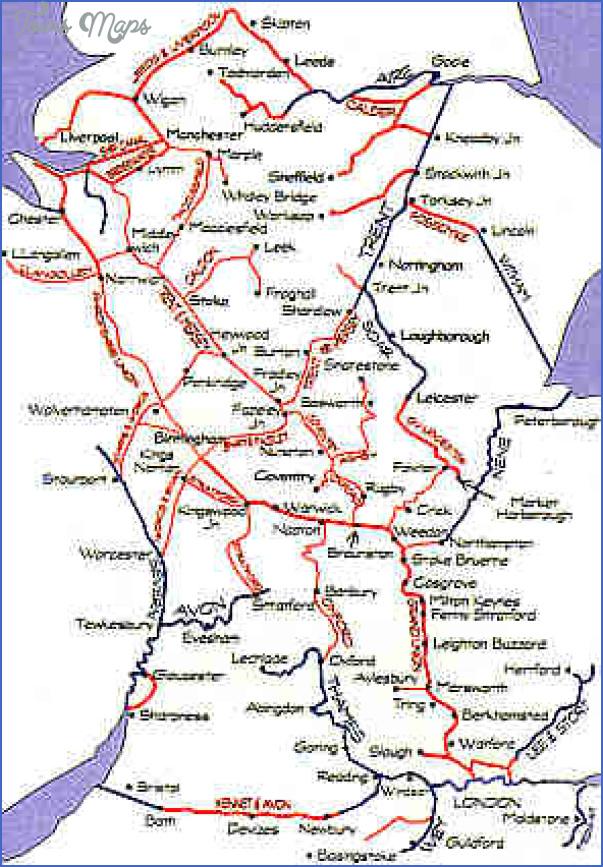 uk canal system map 7 Uk Canal System Map