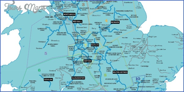 uk canal system map 8 Uk Canal System Map