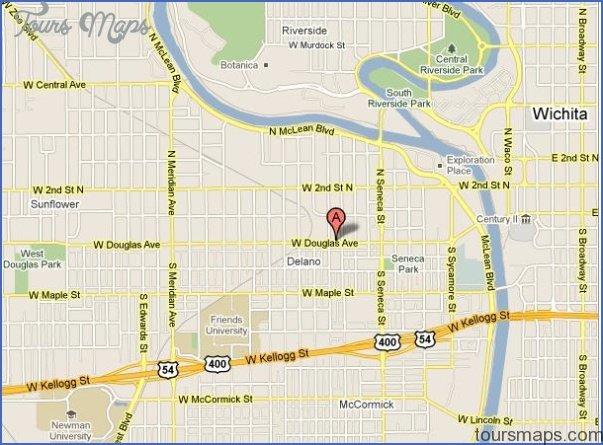 Wichita Kansas Map ToursMapscom - Kansas map