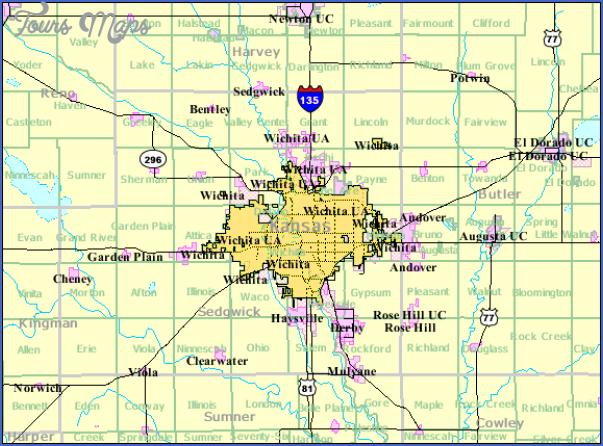wichita kansas map 10 Wichita Kansas Map