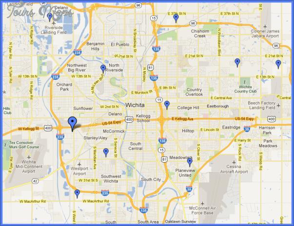 Map Of Wichita Ks Wichita Kansas Map   ToursMaps.®