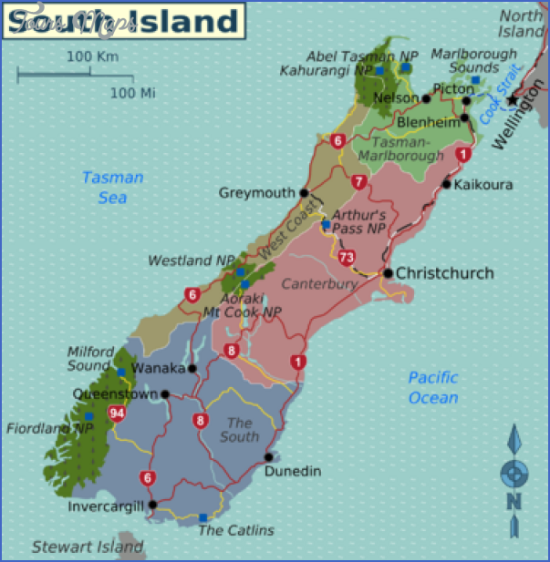 375px south island map Map Of Christchurch New Zealand
