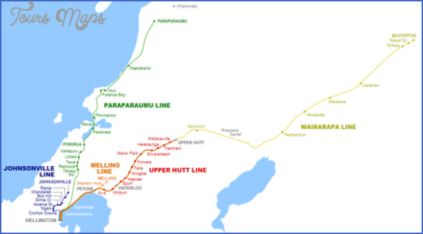 440px wellingtonrailmap New Zealand Railways Map
