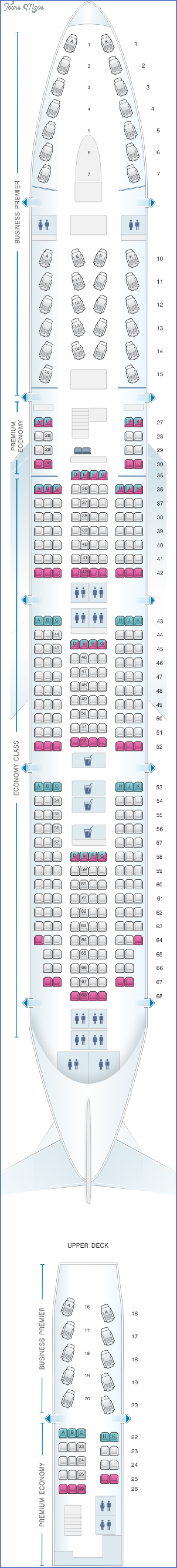 89 air new zealand b747 400 Air New Zealand Seat Map