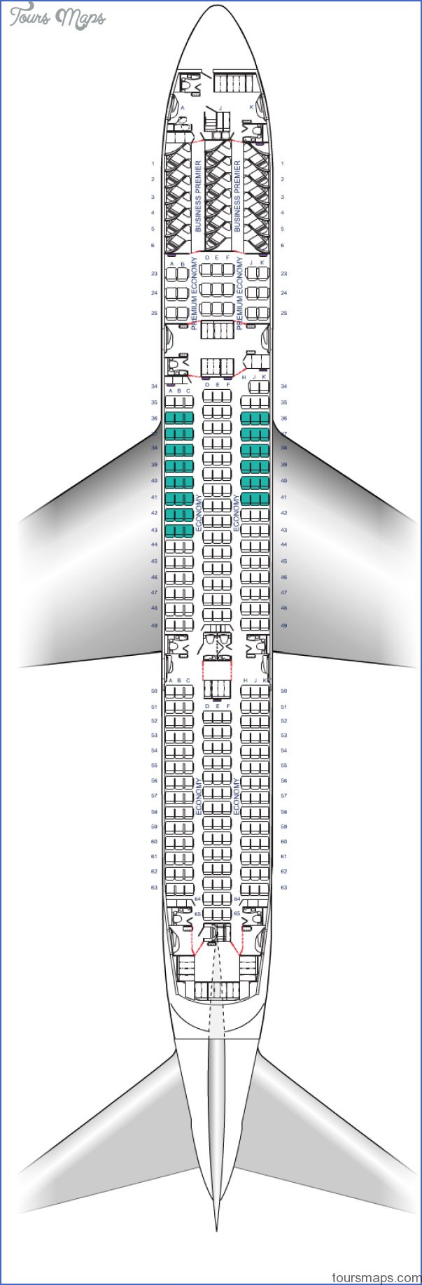 air new zealand boeing 787 900 dreamliner seat map diagram Air New Zealand Seat Map
