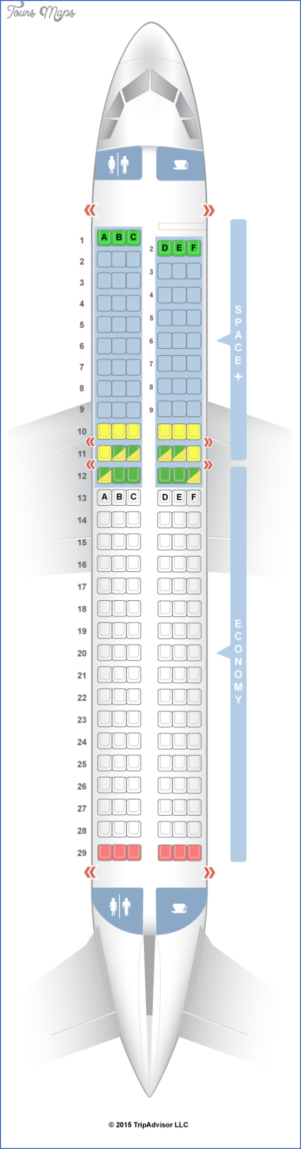 air new zealand airbus a320d Air New Zealand Seat Map