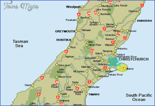 akoramap2 Map Of South Island Of New Zealand