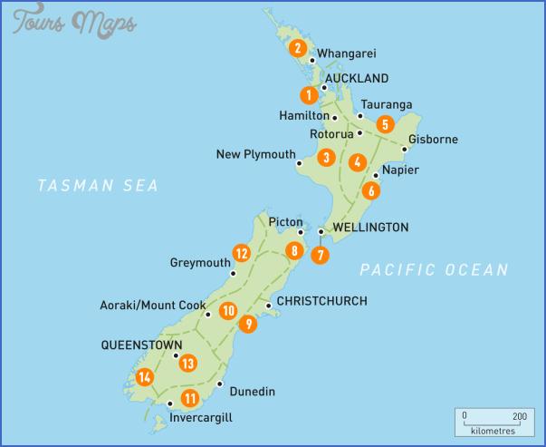 area map of nz New Zealand Regions Map