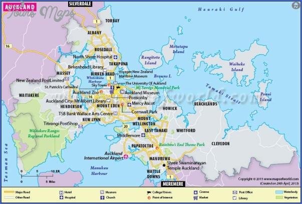 New Zealand Map Pdf.Auckland New Zealand Map Toursmaps Com