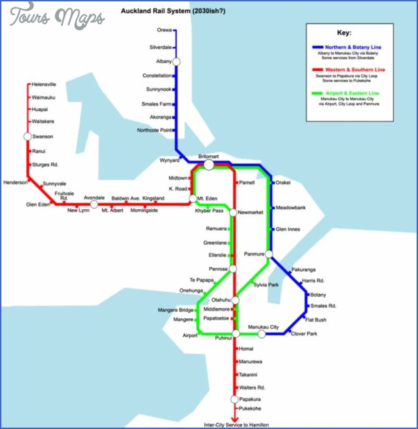 auckland rail dream copy New Zealand Railway Map