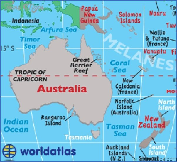 New Zealand Australia Map.Maps Of Australia And New Zealand Toursmaps Com