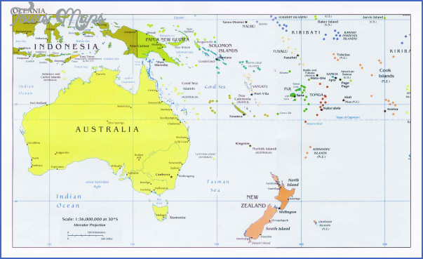 Map Of Australia Nz.Map Of Australia And New Zealand Toursmaps Com