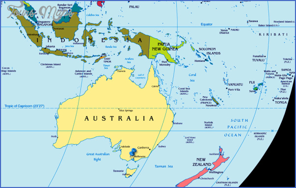 australia Where Is New Zealand Located On The World Map