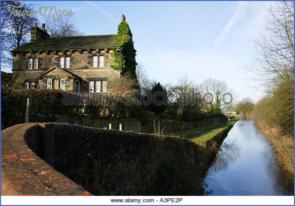 canal side cottage on the peak forest canal at marple in cheshire a3pe2p Peak Forest Canal Fishing