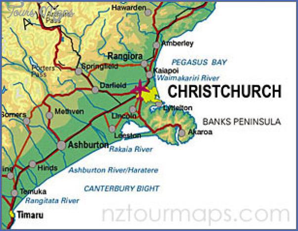 Map Of Canterbury New Zealand.Christchurch New Zealand Map Toursmaps Com