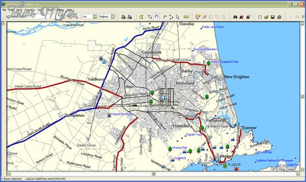 Christchurch New Zealand Map - ToursMaps.com ® on