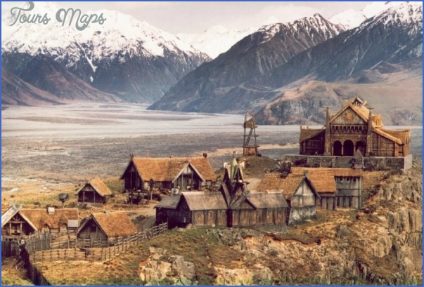 edoras Lord Of The Rings New Zealand Map
