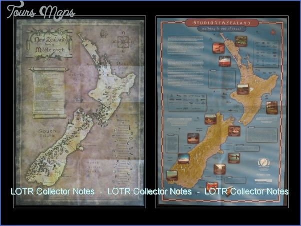 film nz 2 Lord Of The Rings New Zealand Map