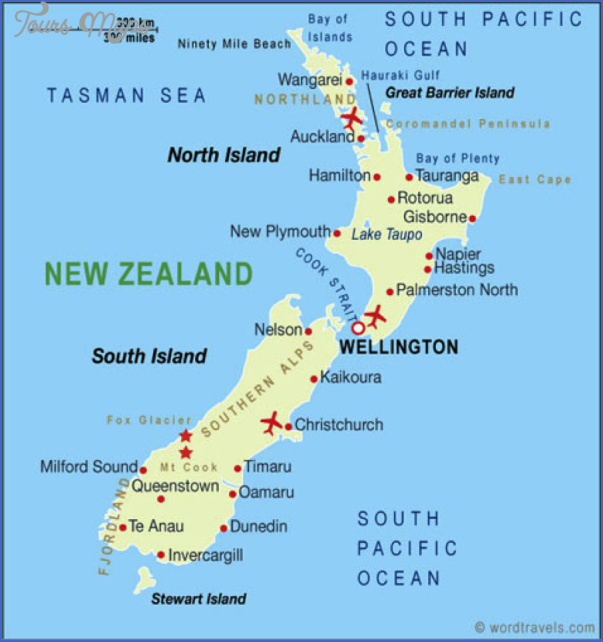 geo Map Of New Zealand Airports