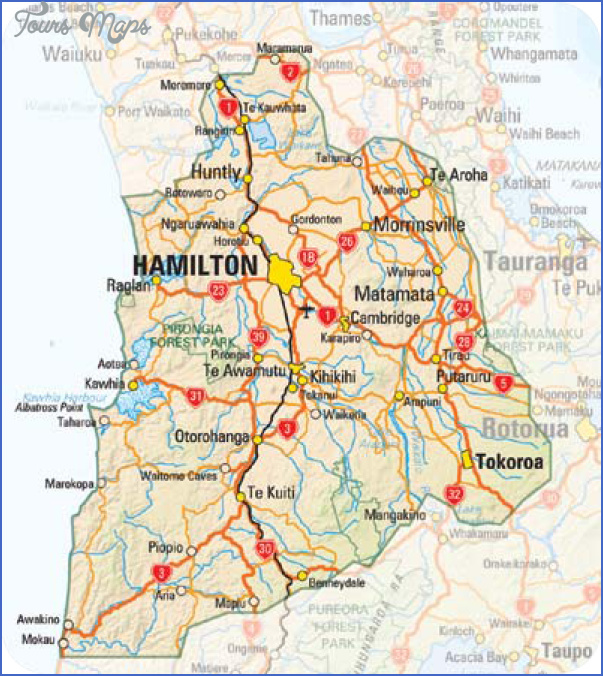 Hamilton Map New Zealand.Hamilton New Zealand Map Toursmaps Com