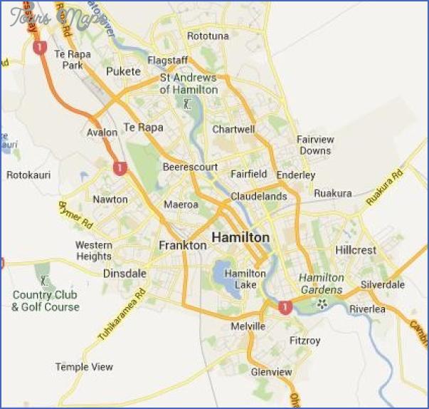 hamilton new zealand map 3 Hamilton New Zealand Map